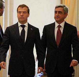 Serzh Sargsyan - Dmitry Medvedev in Armenia, 20 August 2010