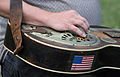 Dobro player - I think this is a dobro guitar - this guy was good - Shindig on the Green 2008 (2008-08-10 16.05.37 by Frank Kovalchek).jpg