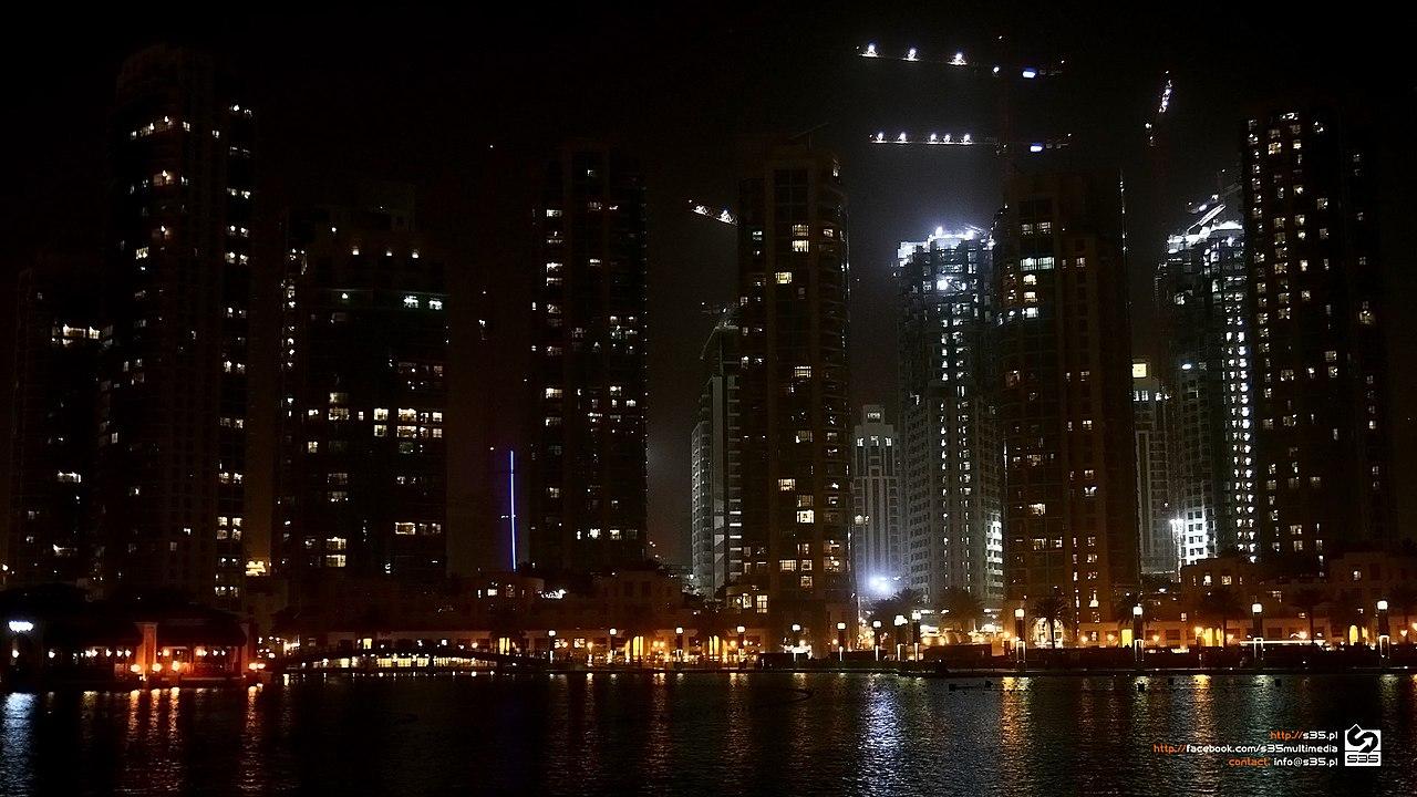 File Doha Night Construction Qatar Hd Wallpaper 30164087 Jpeg Wikimedia Commons