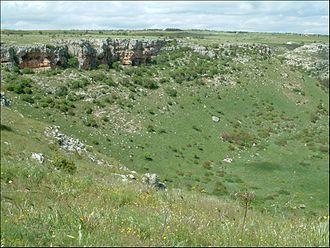 Altamura - A large doline in Altamura's territory.