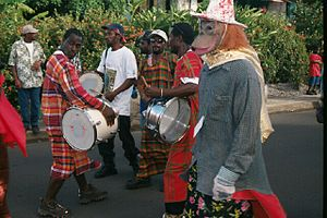 Music of Dominica - A Dominican Carnival costume band