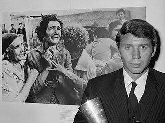 Don McCullin - McCullin receiving the World Press Photo Award in 1964