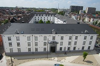 The Holocaust in Belgium - A modern view of Dossin Barracks in Mechelen which housed Mechelen transit camp during the occupation