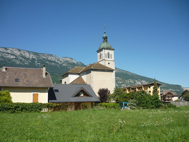Doussard church, Haute-Savoie, France