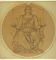 "Drawing, Study for ""Justice,"" Lunette in Hudson County Courthouse, Jersey City, NJ, 1910 (CH 18435299).jpg"