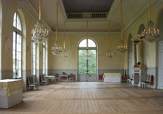Drottningholm Palace Theatre - The Dejuener Salon, which was built during King Gustaf III's reign and is today used as the Theatre's foyer