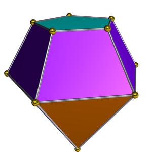 Elongated pentagonal pyramid - Image: Dual elongated pentagonal pyramid