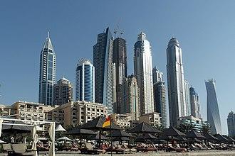 Dubai Media City - View of the skyscrapers in the Dubai Media City area