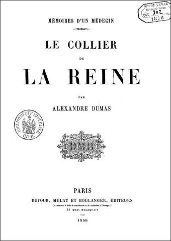 DateiDumas Le Collier De La Reine 1856 Cover Wikipedia