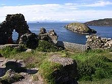 Ruines Du Château De Duntulm Sur Lu0027île De Skye, Siège Du Clan Mac Donald Au  XVII Siècle.