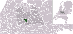 Location of Nieuwegein