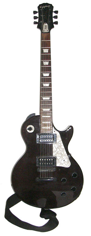 Outline of guitars - An Epiphone Les Paul electric guitar