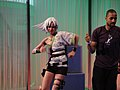 E3 2011 - Dance Central 2 dancer with plastic hair (Xbox) (5830562473).jpg