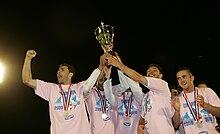Festeggiamenti dell' Evian, per la prima promozione in Ligue 2 nel 2010.