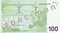EUR 100 reverse (2002 issue)