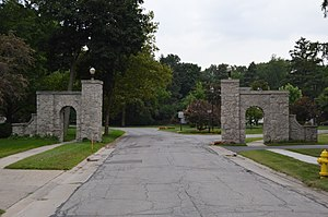 National Register of Historic Places listings in Wood County, Ohio - Image: Eagle Point Colony gateway