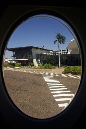 East Kimberley Regional Airport - View of East Kimberly Regional Airport (Kununurra) from the window of Virgin Australia (SkyWest) Fokker F100 Jet