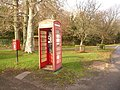 East Lulworth, postbox No. BH20 72 and phone box - geograph.org.uk - 1591354.jpg