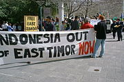 Demonstration for independence from Indonesia.