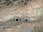 East end of rail tunnels in Thistle, Utah, Jul 15.jpg