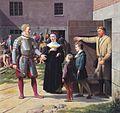 Eckersberg, CW - Frederik I frigiver Sten Stures enke og sønner fra fængslet - 1833.jpg