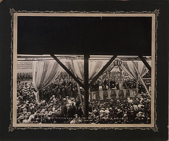 History of Alberta - Crowds in Edmonton mark the creation of the Province of Alberta, 1 September 1905