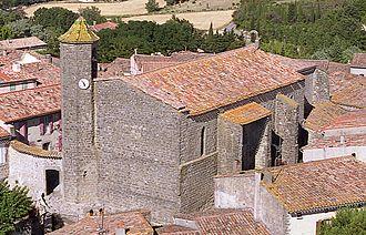 Alairac - Image: Eglise vue aérienne
