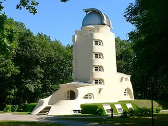 Expressionist architecture - Einstein Tower in Potsdam near Berlin, 1919–22 (Erich Mendelsohn)