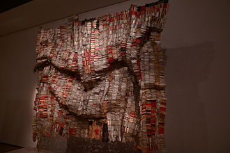 El Anatsui - Man's Cloth by El Anatsui (1998 – 2001), on display at the British Museum.
