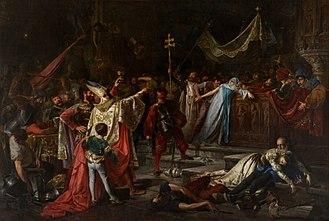 Sack of Rome (1527) - Sack of Rome, by Francisco Javier Amérigo Aparicio, 1884. Biblioteca Museu Víctor Balaguer