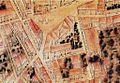 El palau de mossén Sorell com apareix en el plànol de València de Tomàs Vicent Tosca de 1704.jpg
