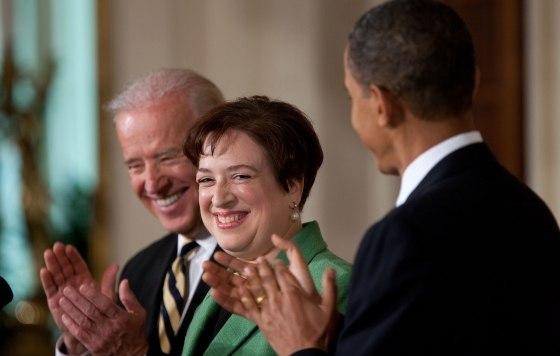 Elena Kagan with President Barack Obama and Vice President Joe Biden 2010-05-10