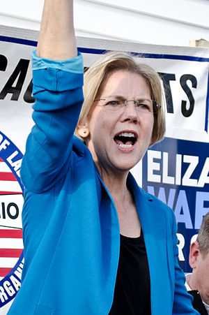 Elizabeth Warren - Warren at a campaign event, November 2012