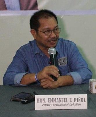 Secretary of Agriculture (Philippines) - Image: Emannuel Piñol portrait