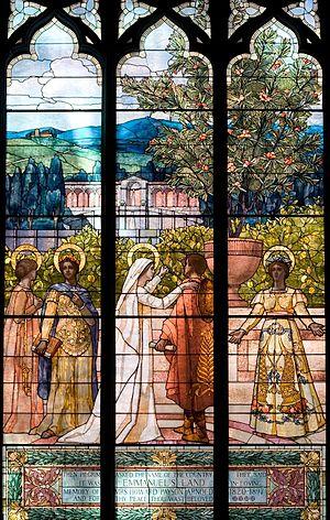 Frederic Crowninshield - Emmanuel's Land Window depicts a scene from John Bunyan's Pilgrim's Progress, at the Emmanuel Episcopal Church, Boston