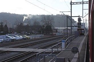 Ems Werk (Rhaetian Railway station) - Image: Ems Werk 200115