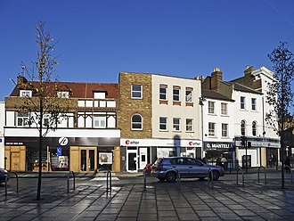 Enfield Town - Image: Enfield Town centre, Enfield geograph.org.uk 1076291