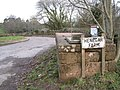 Entrance to Henegar Farm off A38 southbound - geograph.org.uk - 1626259.jpg