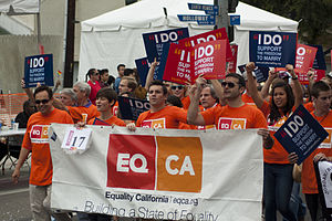 Equality California - EQCA at the Los Angeles LGBT pride parade in 2011