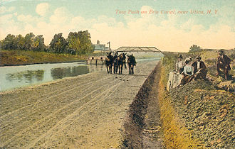 Roswell F. Cottrell - Erie Canal Tow Path at Utica north of Brookfield.