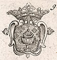 Escudo da Galiza em Die Sud-West Custe von Gallicien de Gabriel Bodenehr (1704).jpg