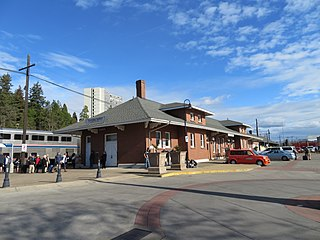 train station in Eugene, Oregon, United States