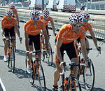 Euskaltel Tour 2010 prologue training 3.jpg