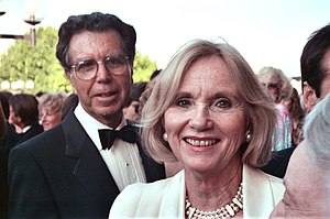 Jeffrey Hayden - Jeffrey Hayden with wife Eva Marie Saint (1990)