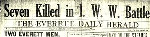 Everett massacre newspaper headline