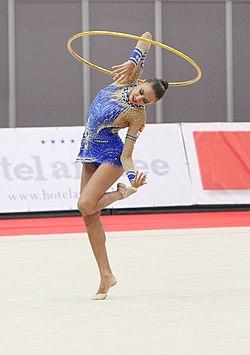 Evgenia Kanaeva RUS Olympiasiegerin.JPG