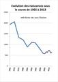 Evolution du nombre des naissances sous le secret 1965 2013 (2).pdf