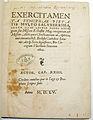 Exercitamenta 1555mit Besitzvermerk Kapuzinerkloster RV.jpg