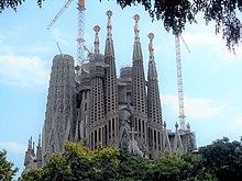 Foto van La Sagrada Familia uit het jaar 1915 (bron: Wikipedia)