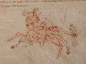 Aries (constellation) - Aries depicted in an early medieval manuscript, c.1000